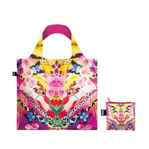 Skládací nákupní taška s kapsičkou LOQI Flower Dream