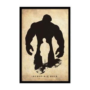 Plakát Incredible Hulk, 35x30 cm