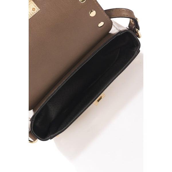 Béžová kožená kabelka Massimo Castelli Kanutte