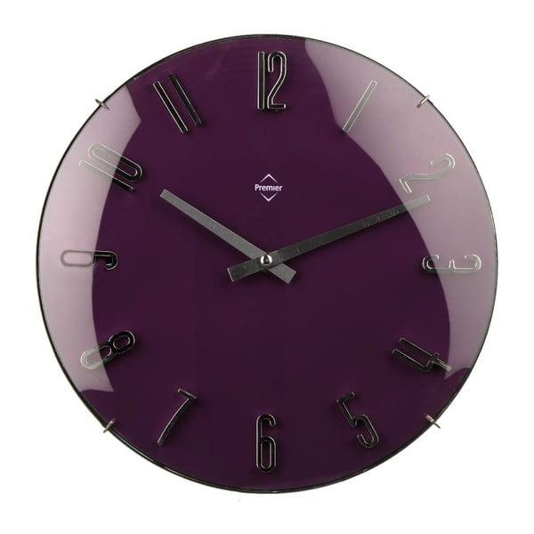 Nástěnné hodiny Purple, 41 cm