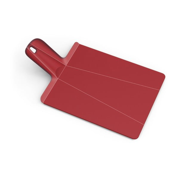Červené skládací krájecí prkénko Joseph Joseph Chop2Pot Plus, délka 38 cm