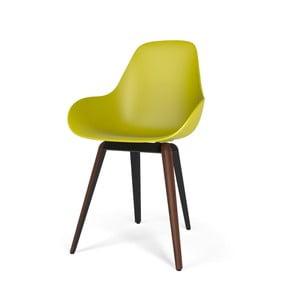 Žlutá židle s tmavým podnožím Kubikoff Slice