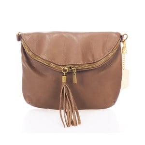 Taupe kabelka z pravé kůže Federica Bassi Cassie