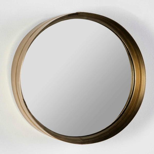 Okrúhle nástenné zrkadlo v zlatej farbe Thai Natura Wathap, ⌀30cm