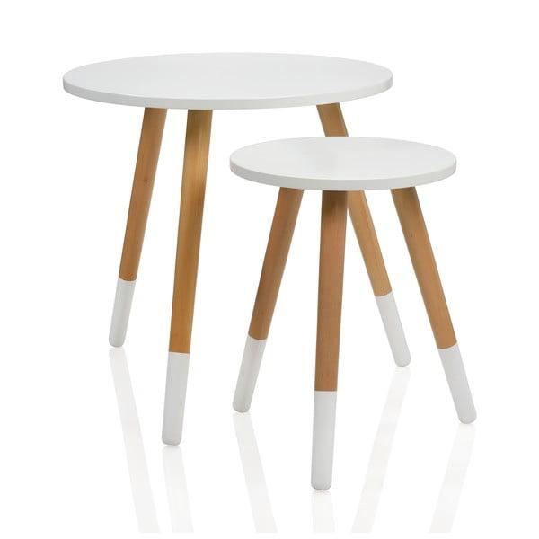 Set dvou kulatých stolků Natura