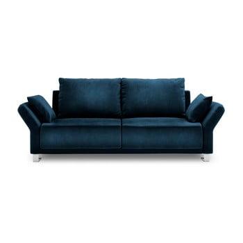 Canapea extensibilă cu înveliș de catifea cu 3 locuri Windsor & Co Sofas Pyxis, albastru de la Windsor & Co Sofas