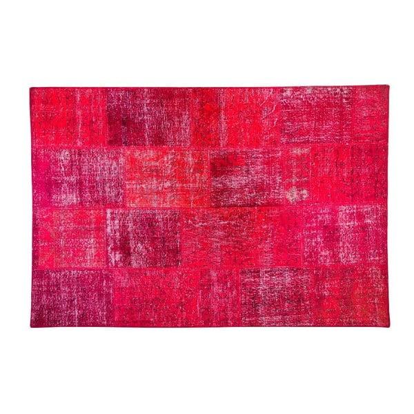 Vlněný koberec Allmode Red, 180x120 cm
