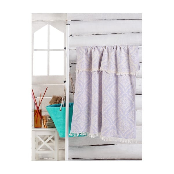 Jasnofiolatowy ręcznik Varak, 180x100 cm