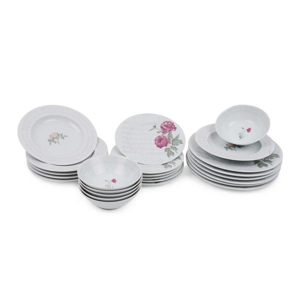 24-częściowy zestaw talerzy porcelanowych Kutahya Yarro