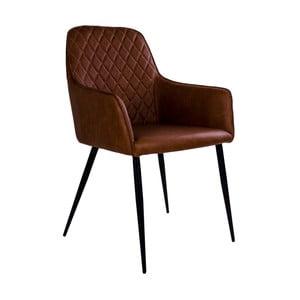 Hnědá židle s područkami HouseNordic Harbo