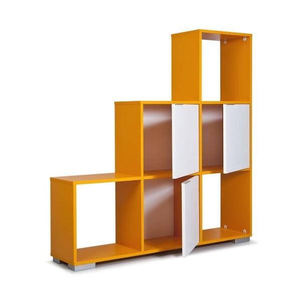 Knihovna Decolour, oranžová/bílá
