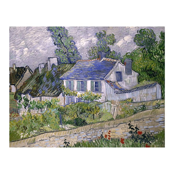 Obraz Vincenta van Gogha - Houses at Auvers, 70x55 cm