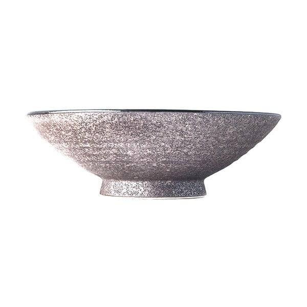 Beżowa wysoka miska ceramiczna na zupę MIJ Earth, ø 24 cm