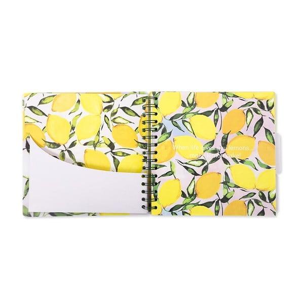 Žlutý receptář GO Stationery Lemons