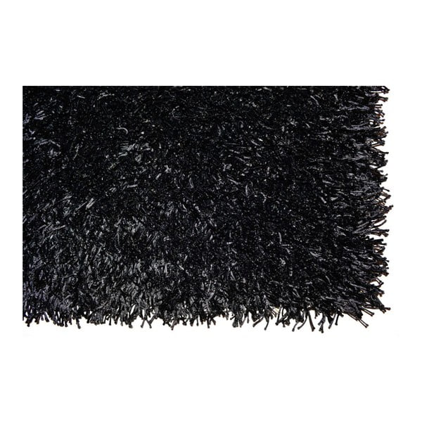 Koberec Spaghetti Black, 120x180 cm
