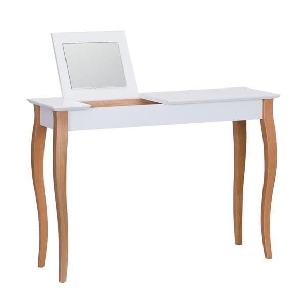 Dressing Table fehér fésülködőasztal tükörrel, hosszúság 105 cm - Ragaba