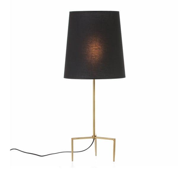 Stolní lampa ve zlaté barvě bez stínítka Thai Natura, výška46cm