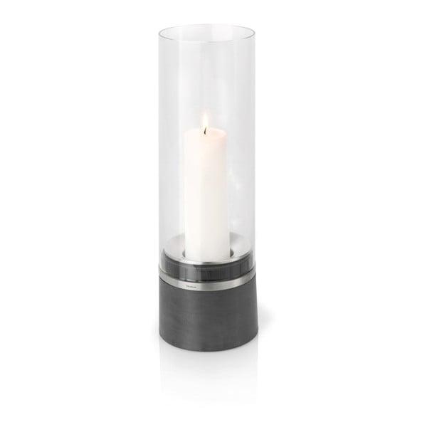 Svícen Blomus Piedra včetně svíčky, 47 cm