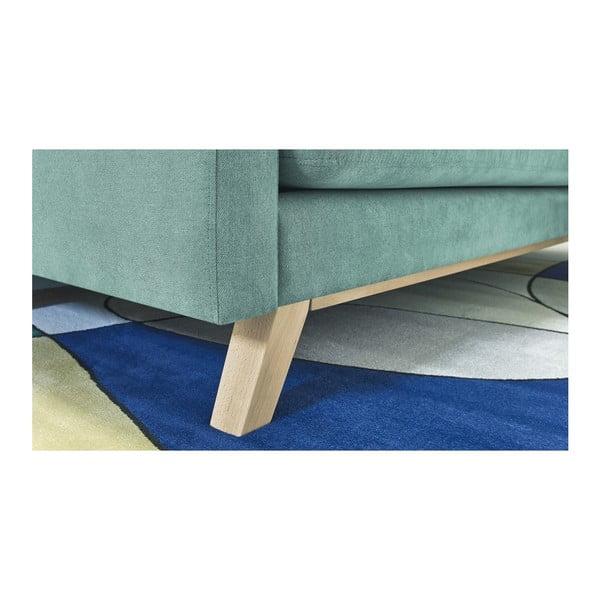 Canapea extensibilă cu 3 locuri Bobochic Paris Triplo, verde deschis