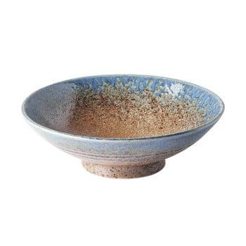 Bol din ceramică pentru ramen MIJ Earth&Sky,ø25cm, bej - albastru
