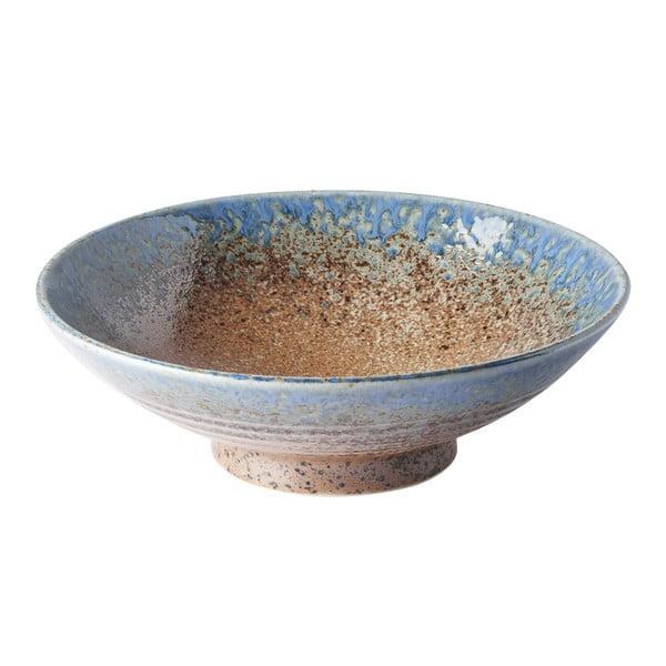 Beżowo-niebieska miska ceramiczna na ramen MIJ Earth & Sky, ø 25 cm