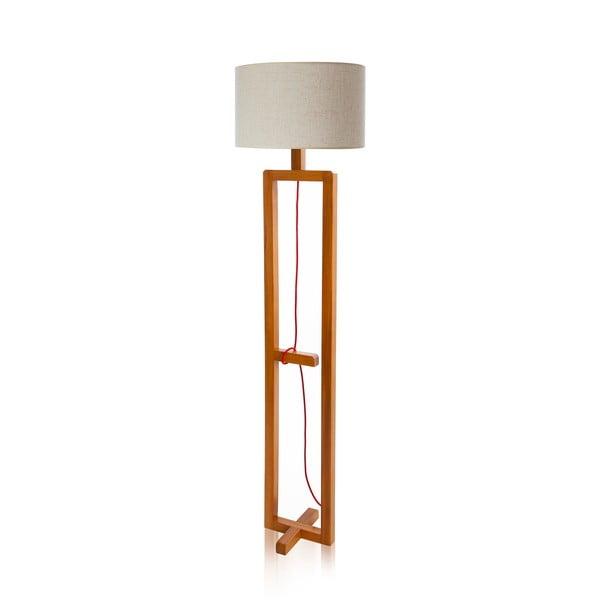 Stojací lampa Dal White Walnut