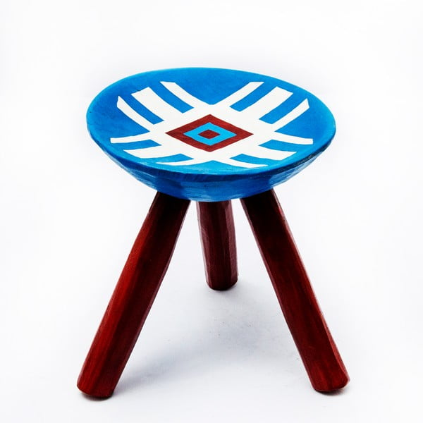 Ručně malovaná stolička Lunca, 28 cm