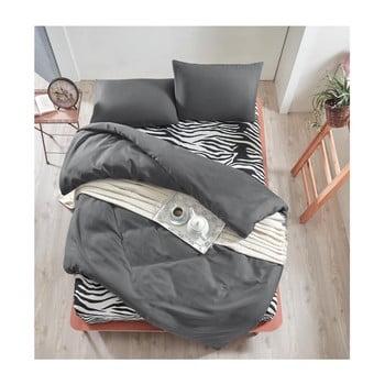 Lenjerie de pat cu cearșaf Permento Gris Duro, 200 x 220 cm de la EnLora Home