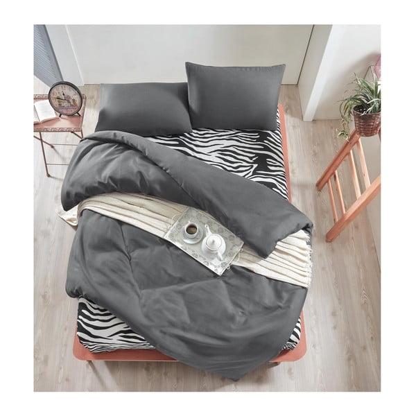 Lenjerie de pat cu cearșaf Permento Gris Duro, 200 x 220 cm