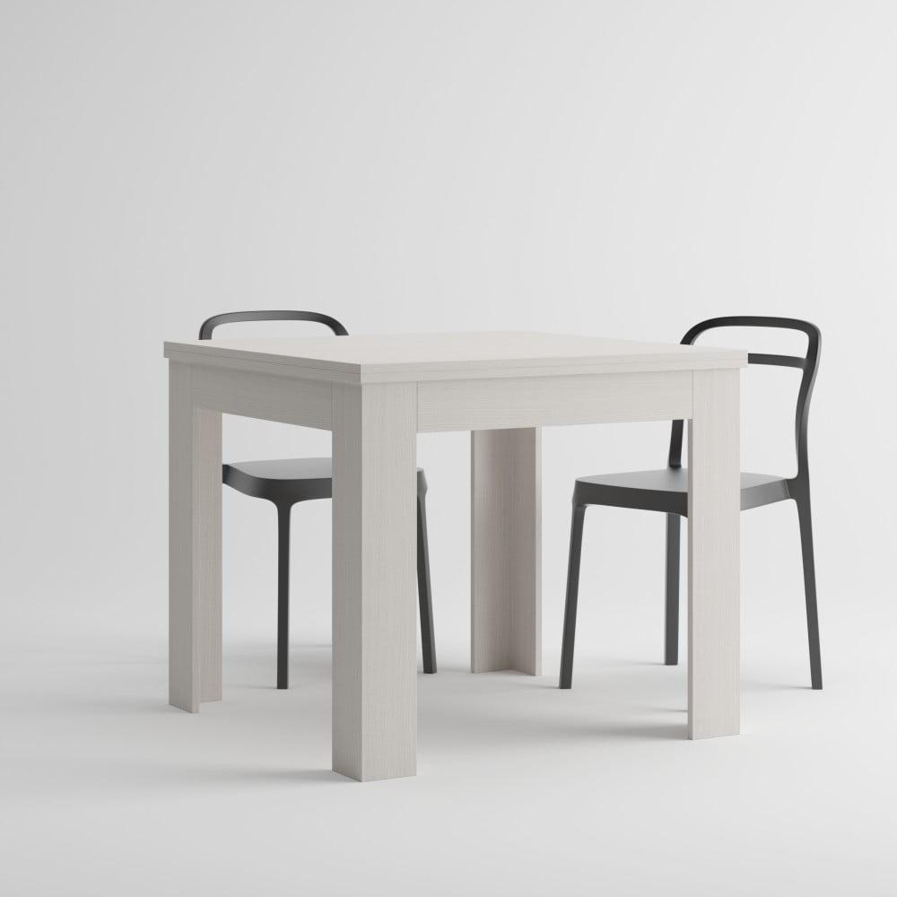Bílý rozkládací jídelní stůl MobiliFiver Eldorado, délka 90-180 cm