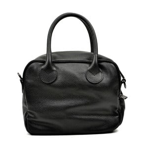 Černá kožená kabelka Carla Ferreri Ludmilla Cesso