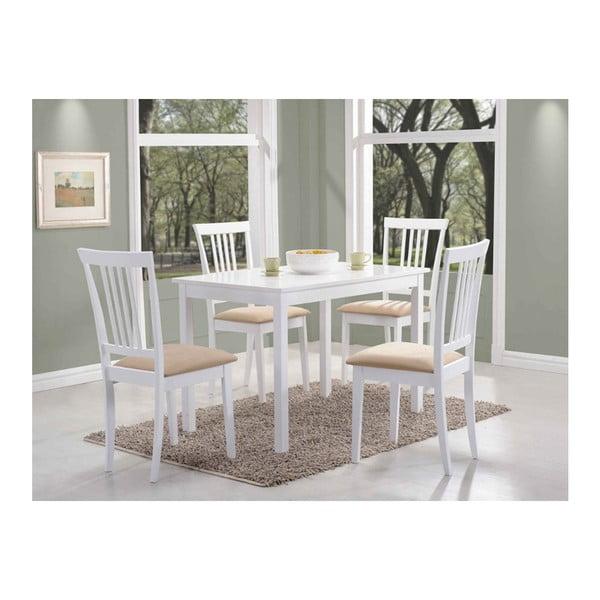 Bílý jídelní stůl Signal Fiord, délka80cm