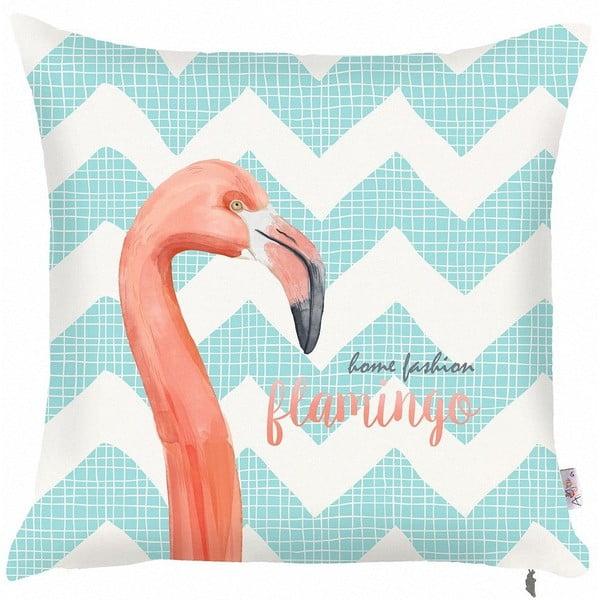 Față de pernă Apolena Zigzag Flamingo, 43 x 43 cm, albastru