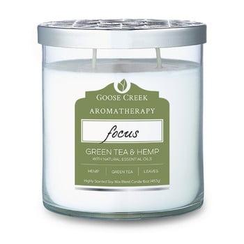 Lumânare parfumată în recipient de sticlă Goose Creek Hemp & Green Tea, 60 ore de ardere imagine