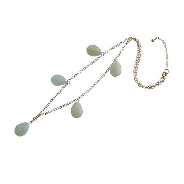 Zlatý náhrdelník Aquamarine (akvamarín)