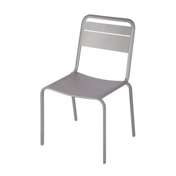 Zestaw 4 szarych krzeseł ogrodowych Ezeis Lambretta