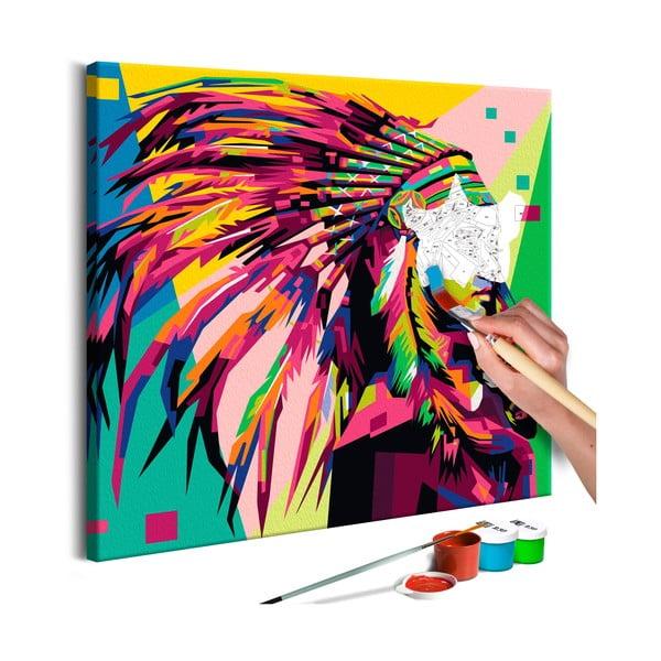 DIY set na tvorbu vlastného obrazu na plátne Artgeist Plume, 40 × 40 cm