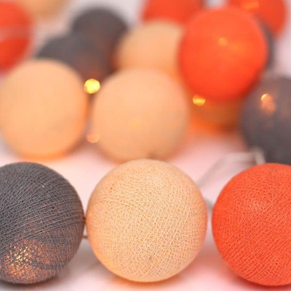 Svetelná reťaz Irislights Peach Marble,10guľôčok