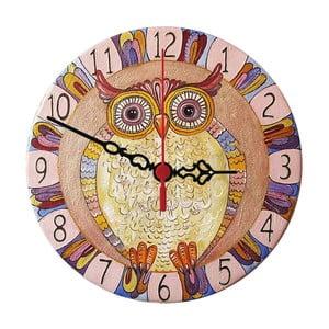Nástěnné hodiny Colorful Owl, 30 cm