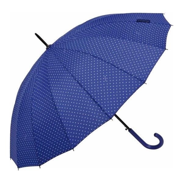 Umbrelă Ambiance Triangles, ⌀ 122 cm, albastru închis