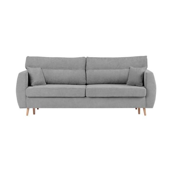 Canapea extensibilă cu 3 locuri și spațiu pentru depozitare Cosmopolitan design Sydney, 231x98x95cm, gri