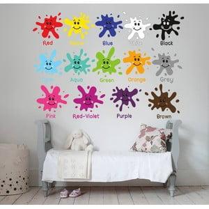 Samolepka na stěnu Barvičky, 50x70 cm
