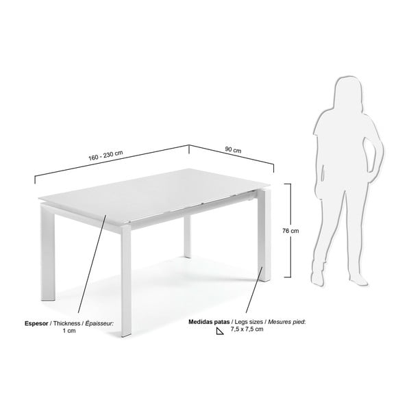 Rozkládací jídelní stůl La Forma Alki