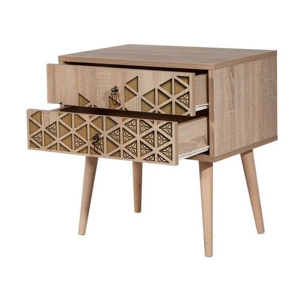 Dřevěný noční stolek Iris Triangle