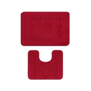 Set 2 covoare de baie Madame Coco Confetti, roșu