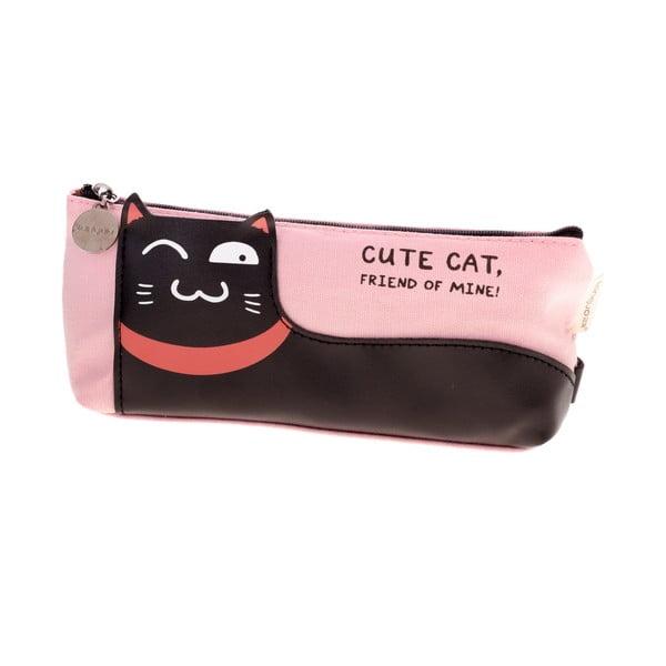 Růžový penál Languo Lazy Cat