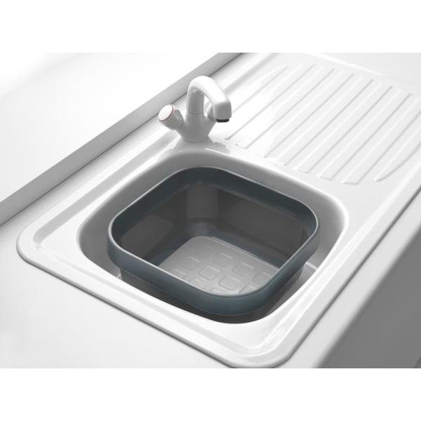 Šedý plastový lavor na mytí nádobí Addis, 34 x 34 x 15,5 cm