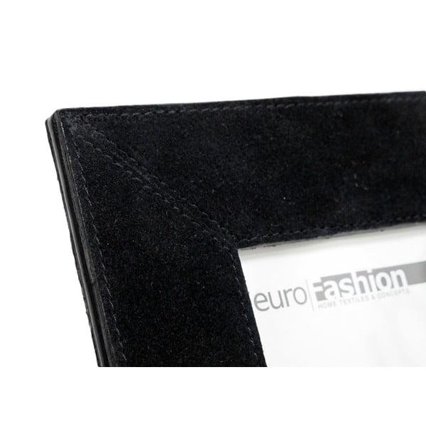 Černý kožený rámeček