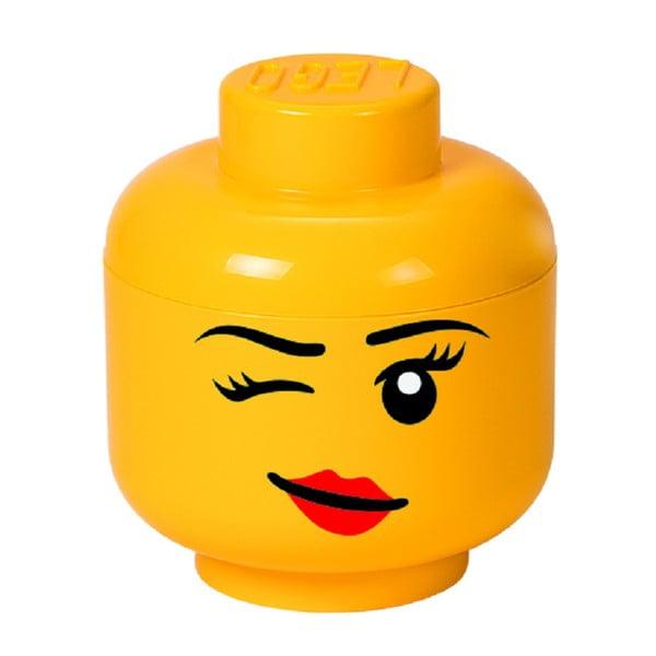 Cutie depozitare LEGO® Winky S, galben, ⌀ 16,3 cm