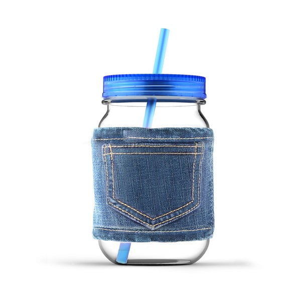 Sklenice Jeans Blue